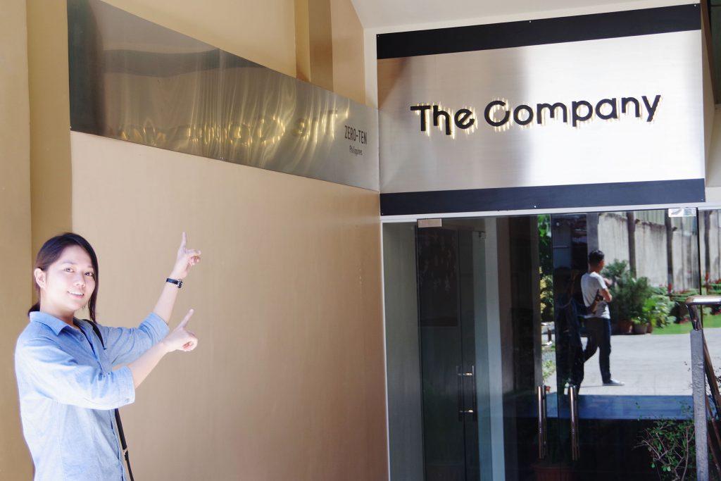 The Companyの入り口