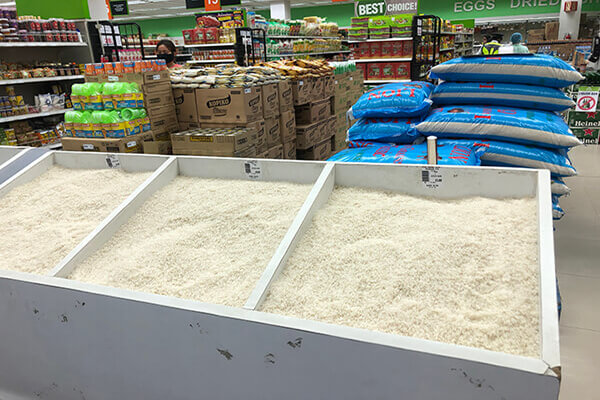 お米の量り売り