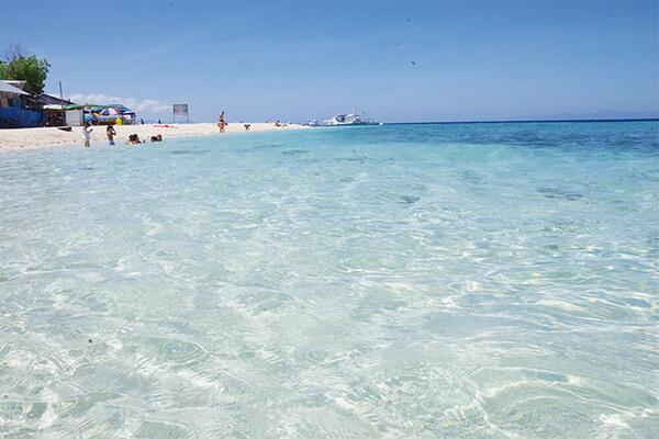 セブ_モアルボアル_ホワイトビーチ_透明度の高い海
