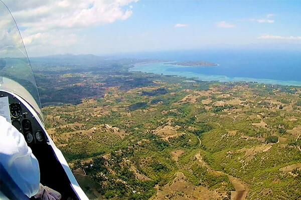 セブ_モアルボアル_ジャイロコプター_空から眺めた島