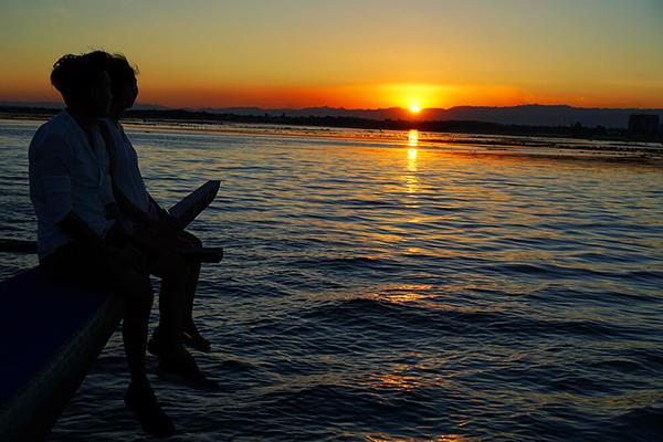 セブ_オプショナルツアー_サンセット_夕日が沈む海