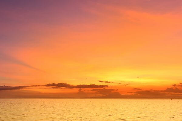 セブ_オプショナルツアー_クルーズ_夕日で赤く染まる海