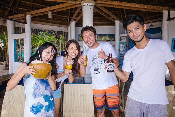 カオハガン島の日本人観光客