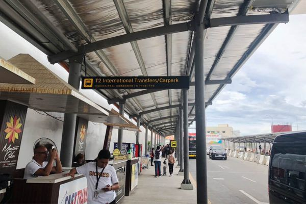 セブ・マクタン国際空港からの移動手段、ターミナル1のターミナル間バス乗り場