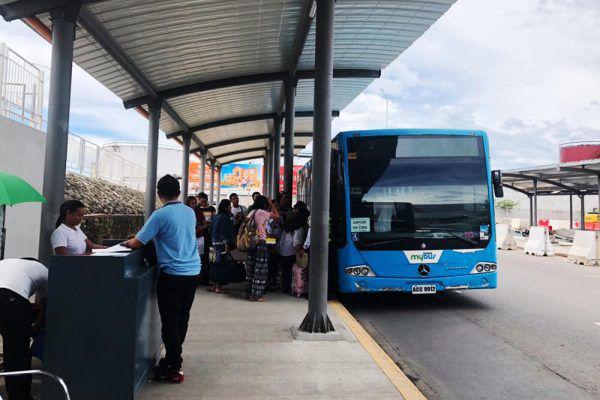 セブ・マクタン国際空港からの移動手段、ターミナル1のMybus乗り場