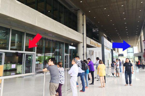 セブ・マクタン国際空港からの移動手段、ターミナル2出口