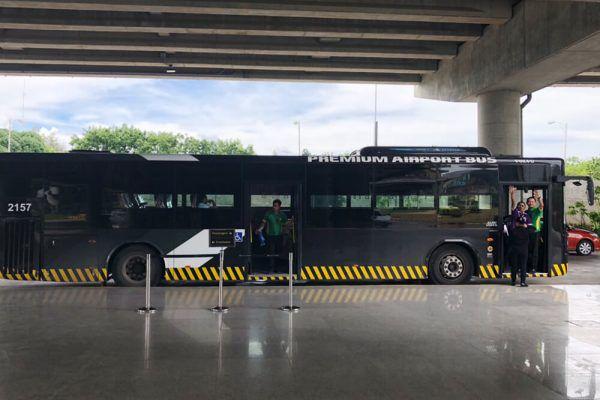 セブ・マクタン国際空港からの移動手段、ターミナル2のターミナル間移動の無料黒バス