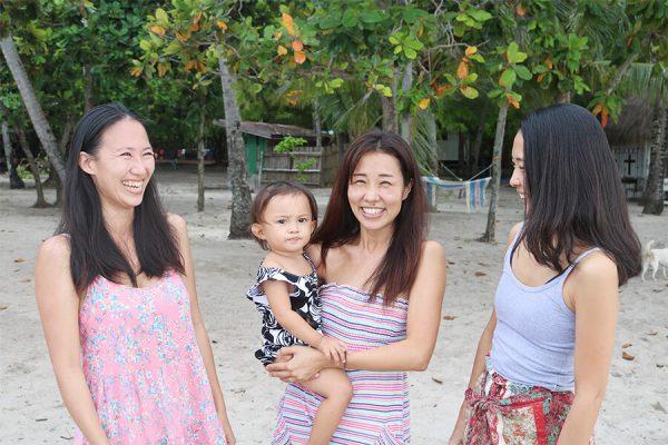 カオハガン島に住む日本人女性